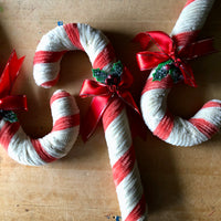 Vintage Pipe Cleaner Candy Canes (c.1960s) - Rush Creek Vintage