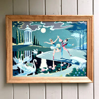 Vintage Paint by Number Moonlight Dancers (1960s) - Rush Creek Vintage