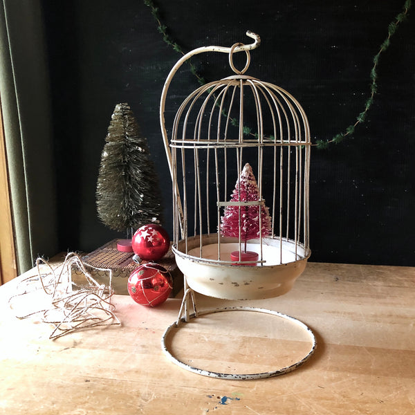 Antique Birdcage with Tabletop Stand (c.1900s)