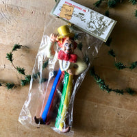 Vintage Silvestri Plastic Clown Ornaments (c.1950s) - Rush Creek Vintage