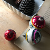 Striped Vintage Glass Ornaments (c.1940s) - Rush Creek Vintage