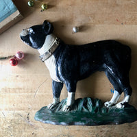 Antique Cast Iron Boston Terrier Door Stop (c.1920s) - Rush Creek Vintage