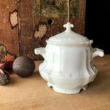 Haviland White Sugar Bowl (c. early 1900s) - Rush Creek Vintage