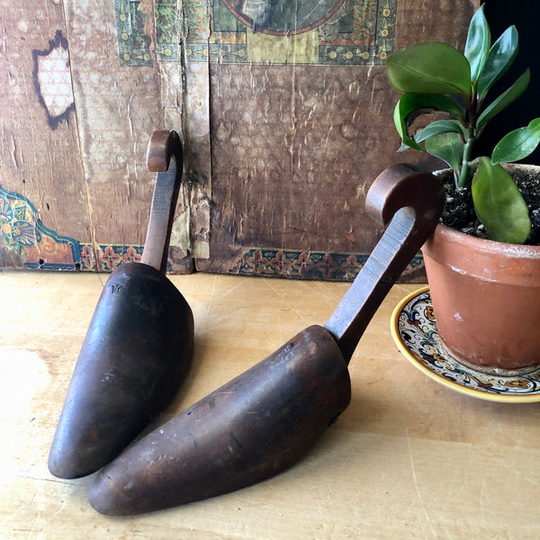 Vintage Industrial Wooden Shoe Forms Set - Rush Creek Vintage