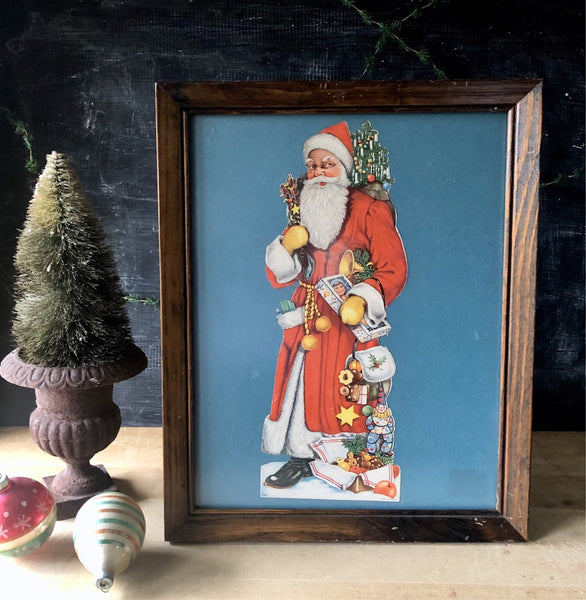 Vintage Old World Santa Lithograph (c.1900s) - Rush Creek Vintage