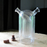 Vintage Glass Double Cruet Oil and Vinegar Bottle - Rush Creek Vintage