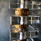 Mid Century Modern Lucite and Brass Table Lamp (c.1960s) - Rush Creek Vintage