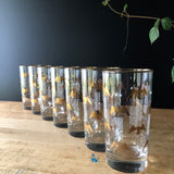 Mid Century Gold Eagle High Ball Glasses (c.1960s) - Rush Creek Vintage