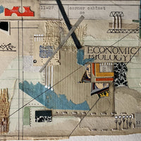 Vintage Book Collage Art, 'Economic Biology' - Rush Creek Vintage
