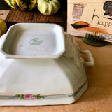 Antique Meakin Covered Vegetable Dish (c.1900s) - Rush Creek Vintage