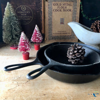 Vintage Lodge Cast Iron Skillets, Set of Two - Rush Creek Vintage