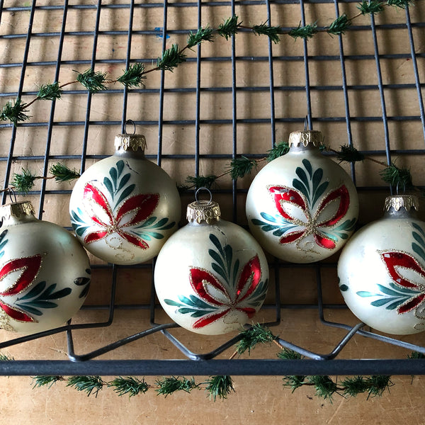 Decorated Glass Vintage Ornaments - Rush Creek Vintage