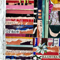 Original Collage from Vintage Paper, 'Grace' - Rush Creek Vintage