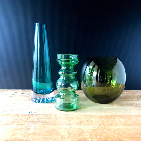 Mid Century Vase Collection | Art Glass Decor - Rush Creek Vintage