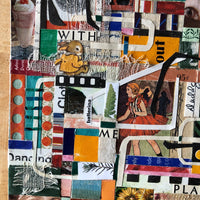 Original Collage From Vintage Books, 'Play With Me' - Rush Creek Vintage