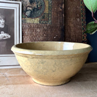 Primitive Yellow Ware Bowl (c.1900s) - Rush Creek Vintage