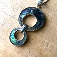 Sterling and Abalone Necklace by Paolo Romeo (c.1970s) - Rush Creek Vintage