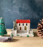 Vintage Christmas Putz Village Church and Mansion (c.1950s) - Rush Creek Vintage