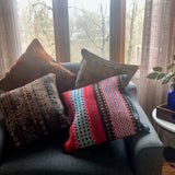 Red and Turquoise Kilim Accent Pillow Cover - Rush Creek Vintage