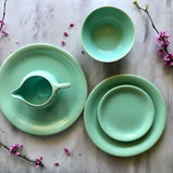 Vintage Pacific Pottery Green Dinnerware (c.1940s) - Rush Creek Vintage