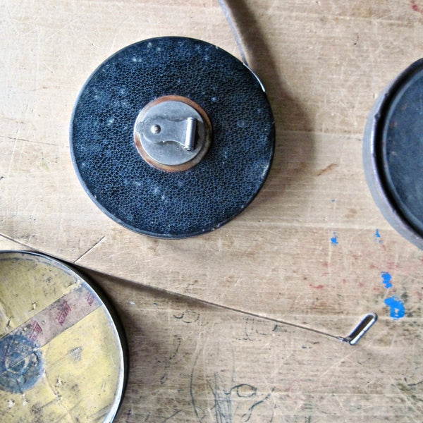 Lufkin Retractable Tape Measure with Storage Can (c.1930s) - Rush Creek Vintage