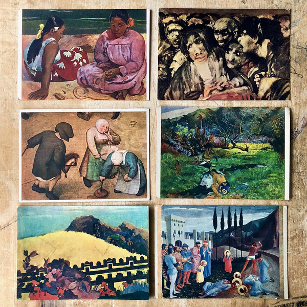 Vintage Fine Art Postcards (c.1900s) - Rush Creek Vintage