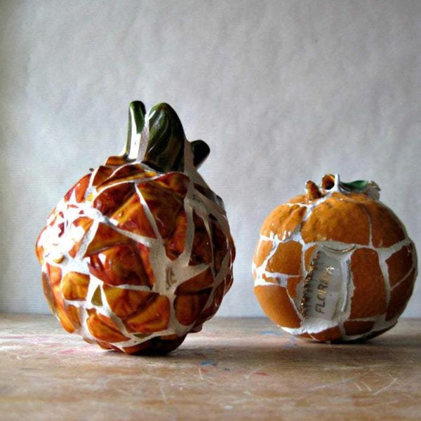 Tropical Fruit Mosaic Ornaments - Rush Creek Vintage