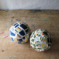 Upcycled Mosaic Holiday Ornaments - Rush Creek Vintage