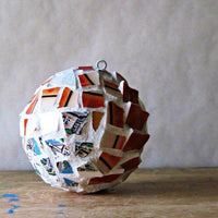 Upcycled Mosaic Christmas Ornament - Rush Creek Vintage
