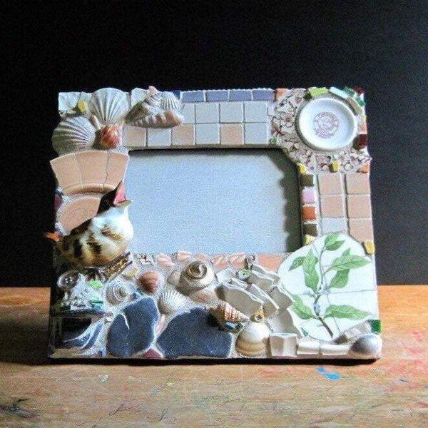 Upcycled Woodland Mosaic Picture Frame - Rush Creek Vintage