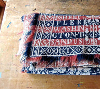 Antique Ohio Wool Coverlet (c.1800s) - Rush Creek Vintage