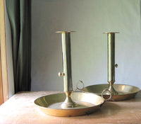 Large Church Alter Brass Candle Holders - Rush Creek Vintage