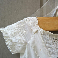 Baby Christening Gown with Historical Letters (c.1800s) - Rush Creek Vintage