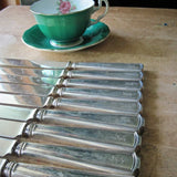Engraved Antique Sterling Silver Knives - Rush Creek Vintage