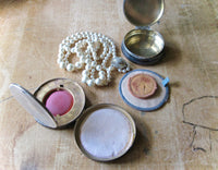 Art Deco Rouge Compact and Pill Box (c.1920s) - Rush Creek Vintage