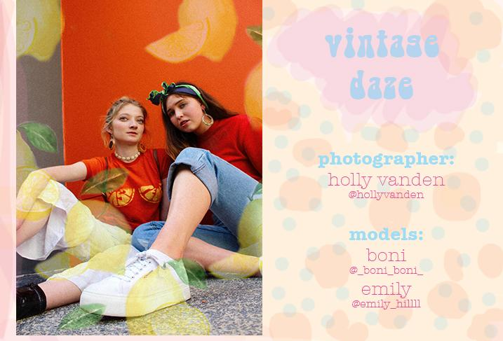 Vintage Daze x Holly Vanden shoot
