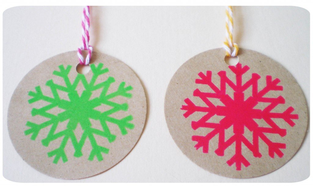 Colourful Christmas Cheer: Neon Christmas Gift Tags