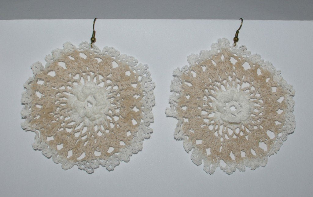 Doily and Handkerchief Earrings