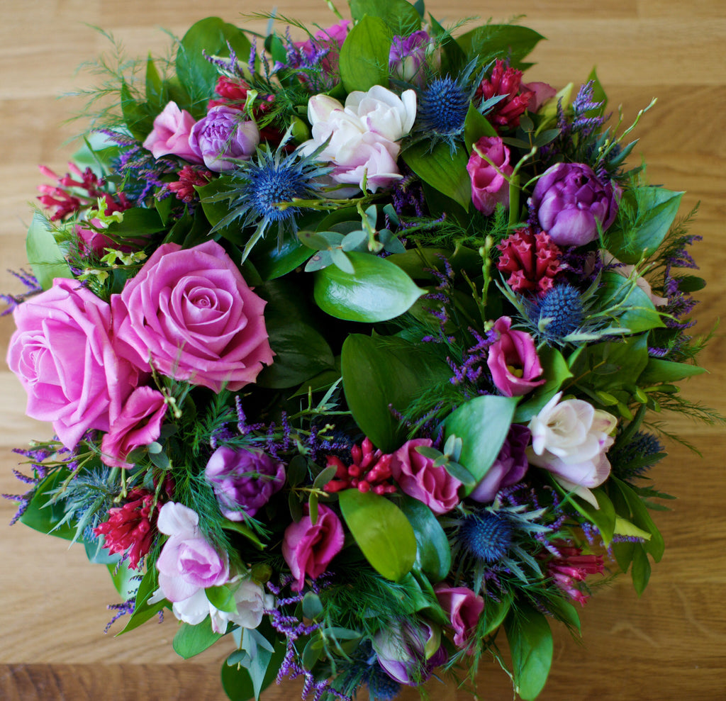 Funeral Wreath Pinks And Purples Unique Flowers Interiors
