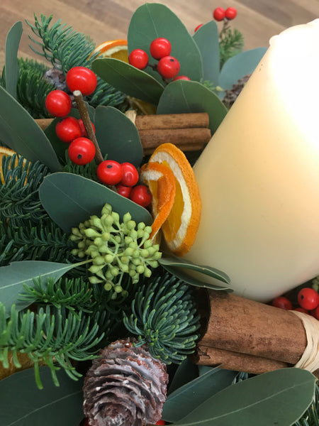 Christmas long table arrangement