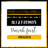 Magnetic Thank you - Umrah feest