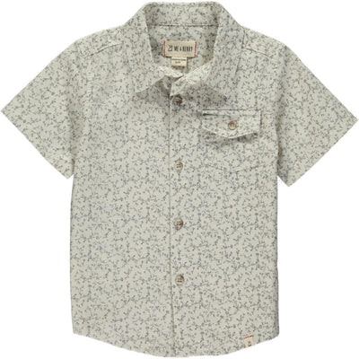Beige Floral Men's Shirt