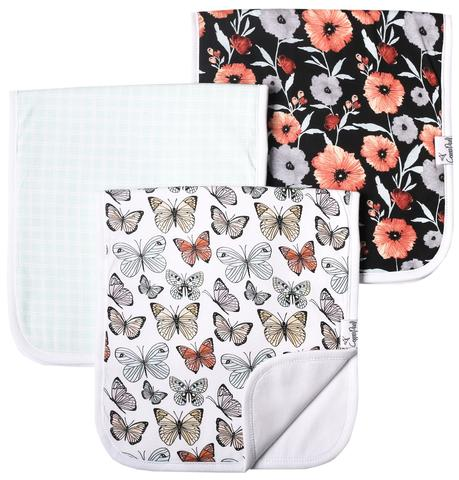 Set of Three Premium Burp Cloths - Dot