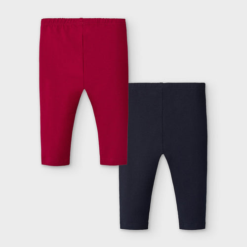 Red and Navy Leggings Set