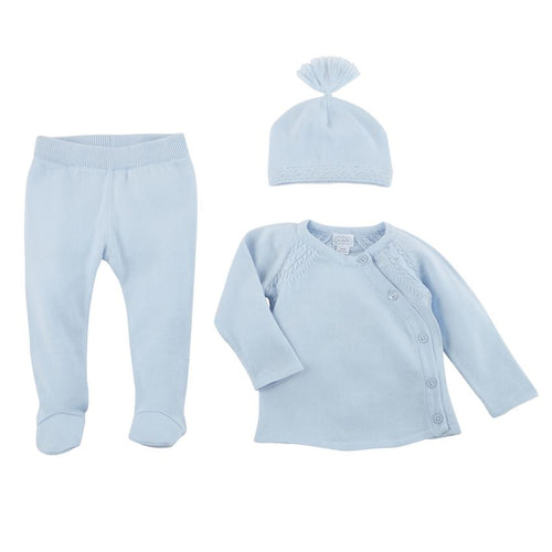 Blue Knit Take-Me-Home Set