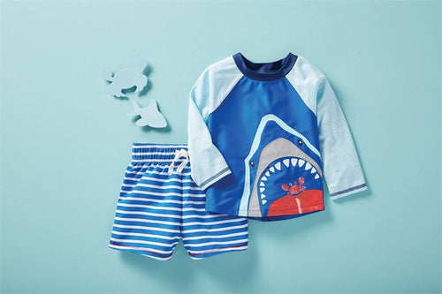Shark Rash Guard Set