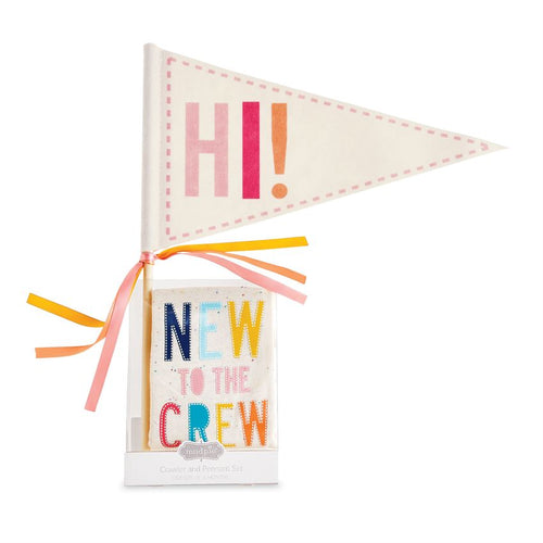 Pink New to Crew Crawler & Pennant Set