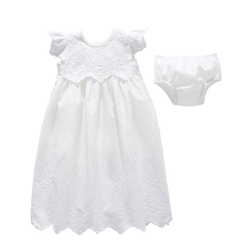 Eyelet Christening Gown