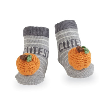 Pumpkin Rattle Toe Socks