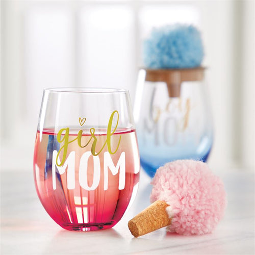 Girl Mom Wine Glass Set